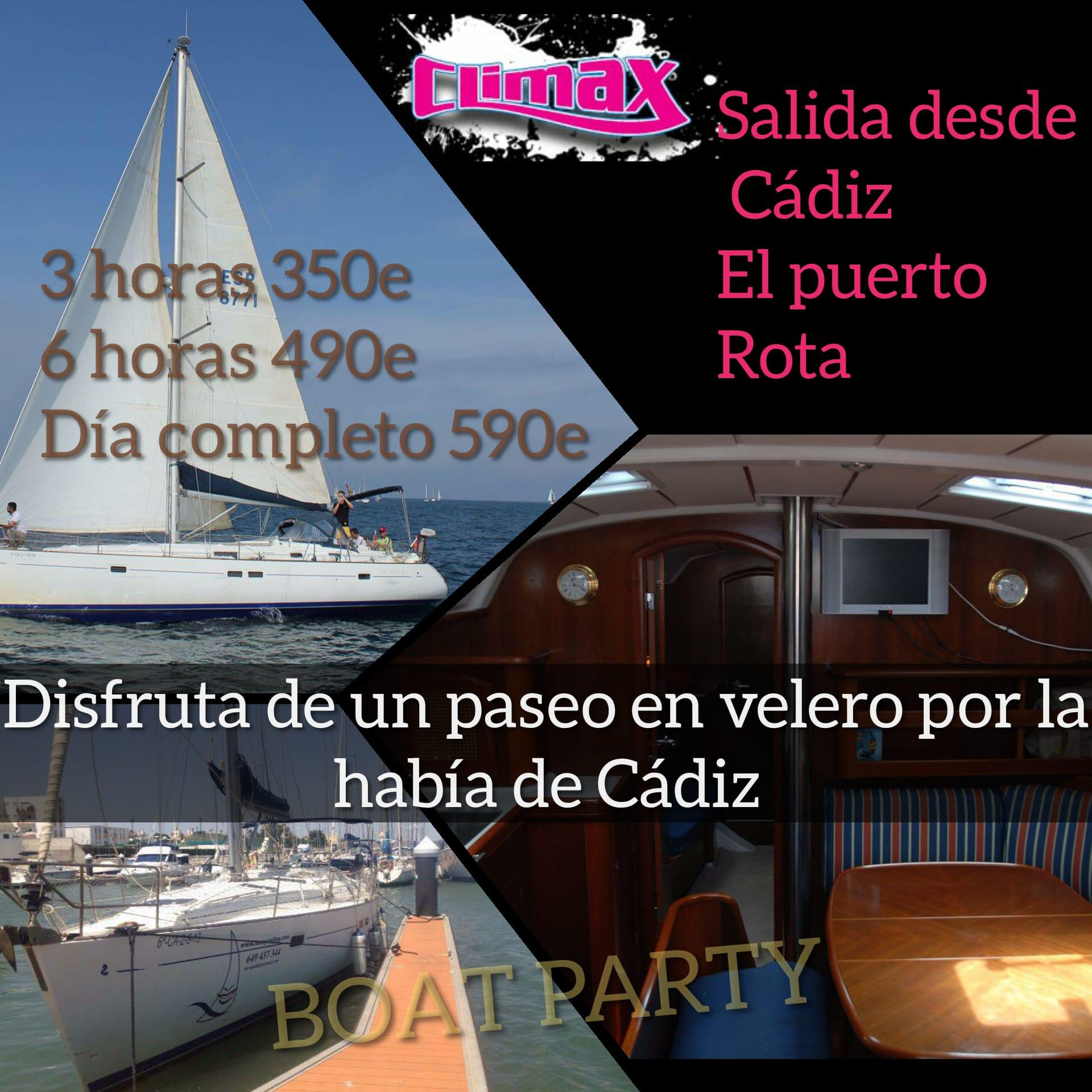 Boat party Cádiz