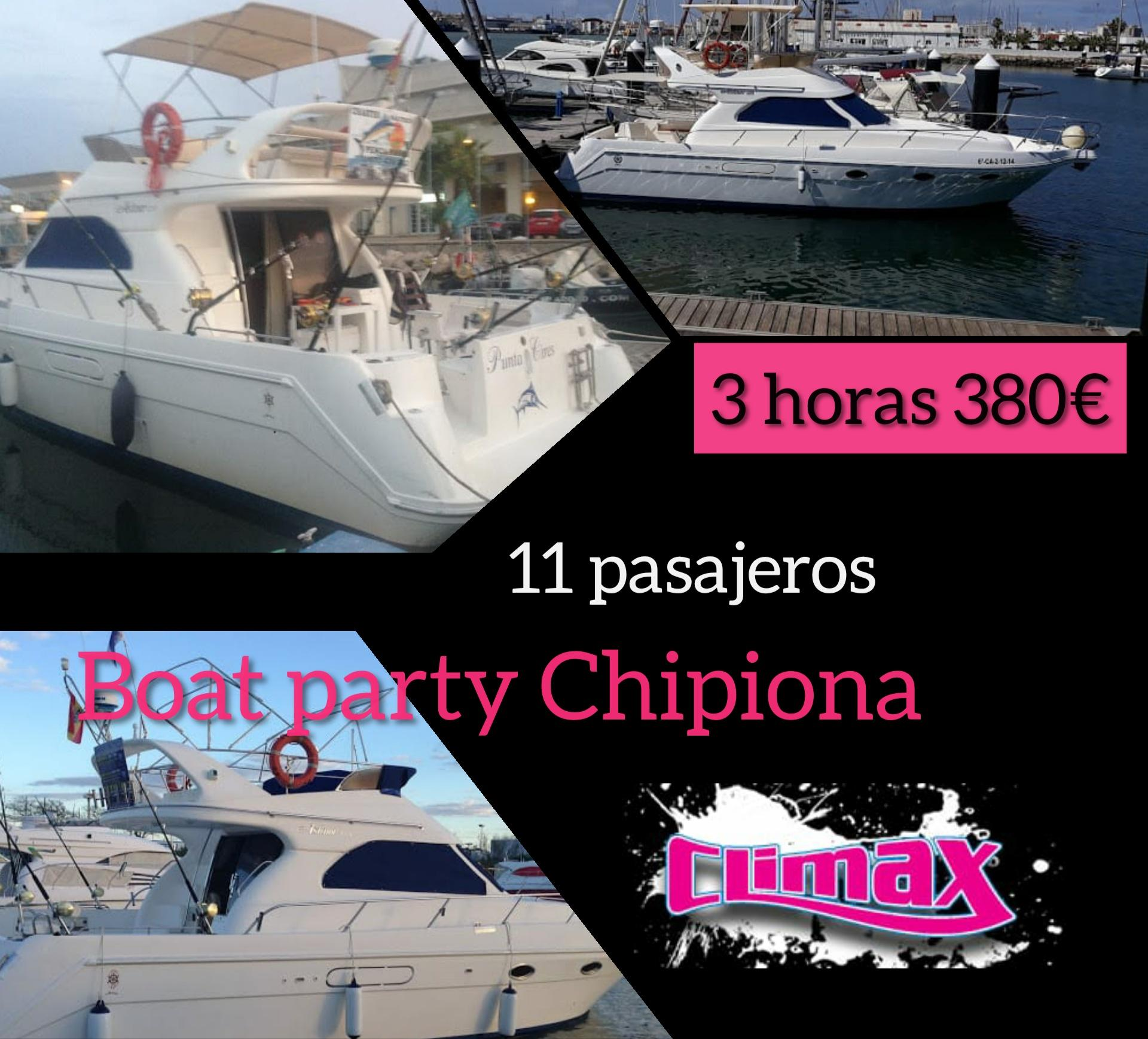 Boat party chipiona